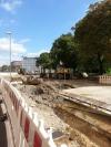 Gleisbauarbeiten in der Burgstraße am kommenden Wochenende