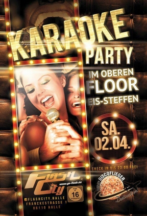 Karaoke-Party und coole Sounds am Samstag, den 02.04.2016 im Flash-City Halle